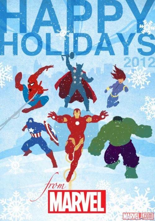 Postal oficial de Marvel Comics.