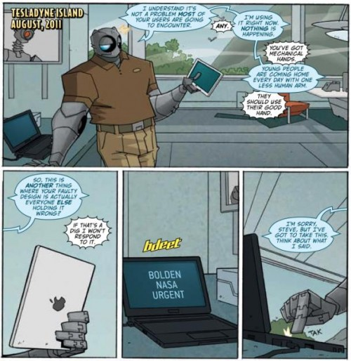 Atomic Robo Vs. Steve Jobs