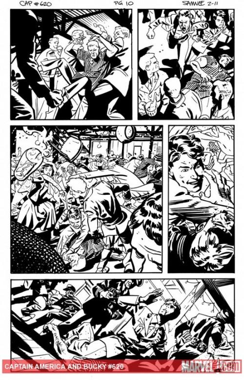 Lápiz y tinta para la serie. Fuente: Marvel Comics