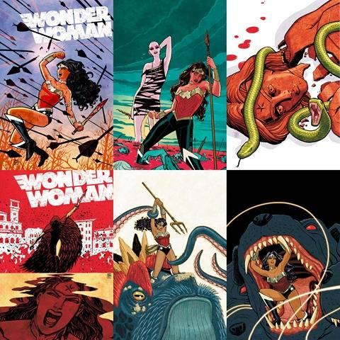 Las fabulosas portadas de Cliff Chiang en Wonder Woman