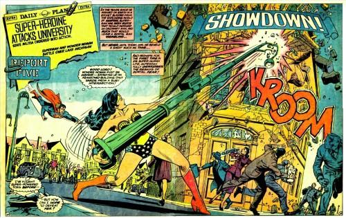 Escena de Superman Vs. Wonder Woman de Gerry Conway y José Luis García-López