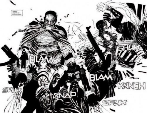 Los héroes de Frank Miller repartiendo leña