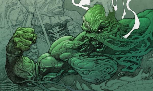 Portada de Swamp Thing #19, por el recién llegado Andy Brase