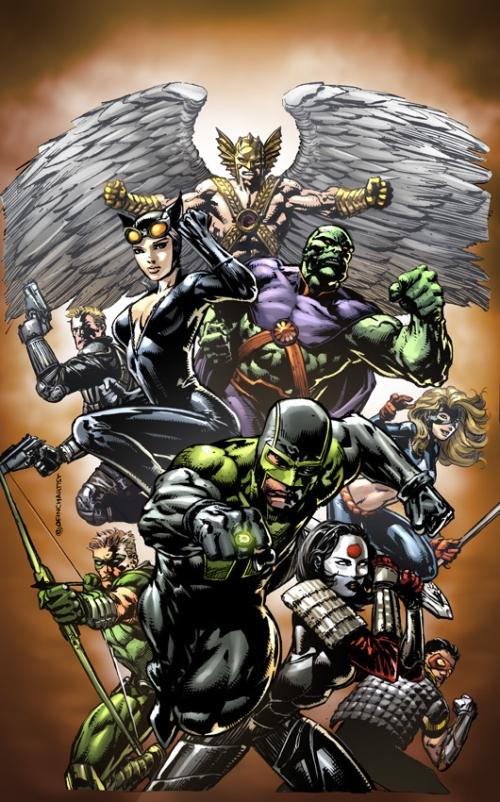Portadas de los números 1 y 3 de Justice League of America, por David Finch
