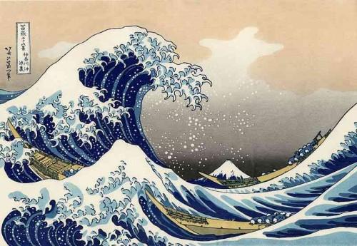La gran ola de Kanagawa de  Katsushika Hokusai (1830-1833)