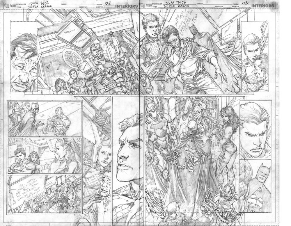 Lápices de Ivan Reis para Justice League #17