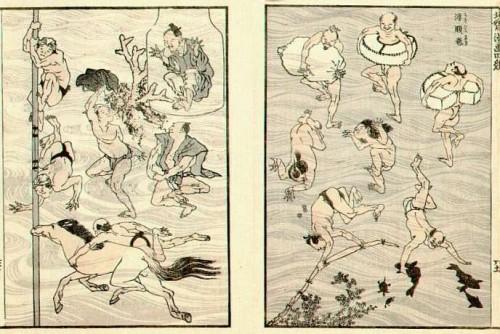 Ilustración de Hokusai Manga (1814-1878)