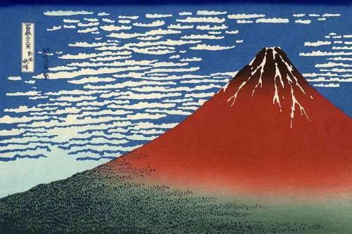 Fuji rojo de Katsushika Hokusai (1830-1833)
