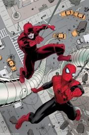 Paolo Rivera Daredevil Spiderman portada