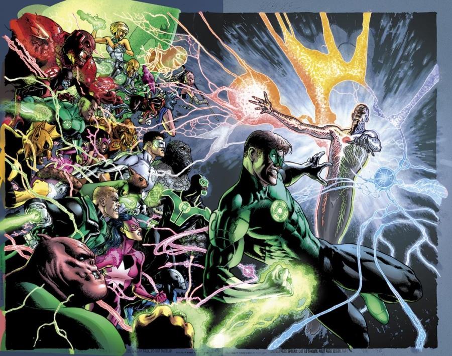 Portada doble de Green Lantern #20, por Doug Manhke