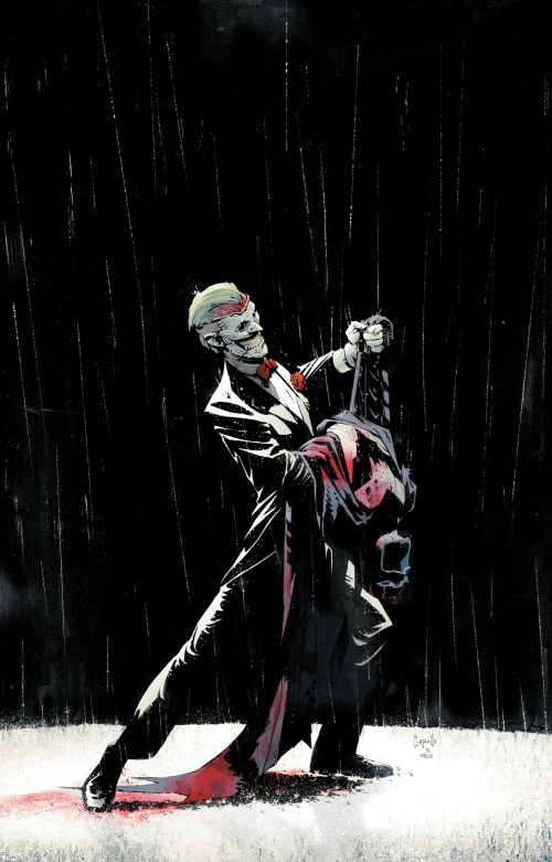Portada de Batman #17 y primera página de la previa, por Greg Capullo.