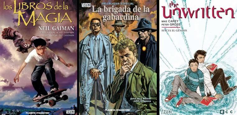 Ediciones españolas de algunas de las series del universo mágico de la línea Vertigo