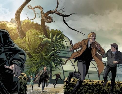 John Constantine huyendo del acoso de La Cosa del Pantano