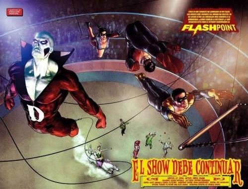 Deadman y los Graysons en pleno espectáculo