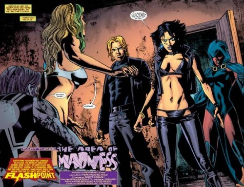 Las versiones de Shade, Zatanna, La Encantadora y Mindwarp de Flashpoint: Siete Secretos