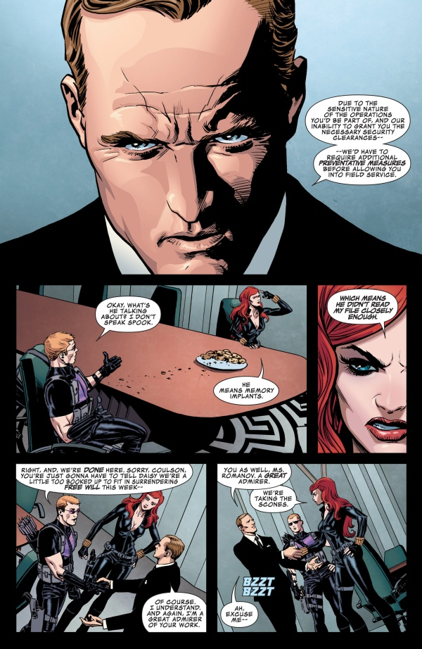 La conversación con Coulson quizá se extiende más de lo necesario.