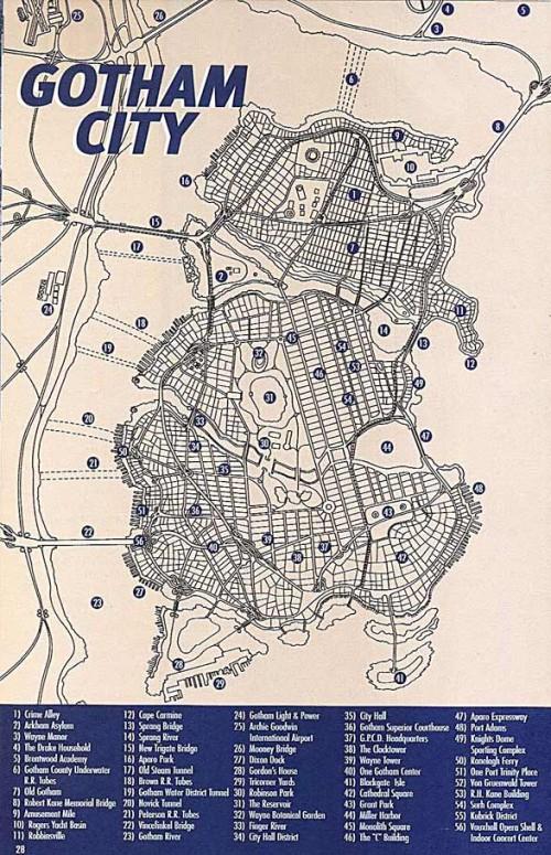 Plano oficial de Gotham City