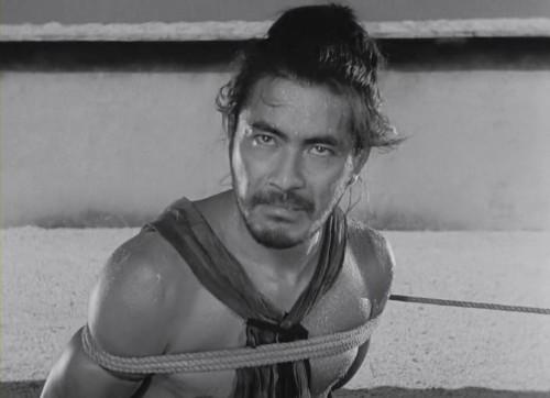 Escena Toshiro Mifune Akira Kurosawa Rashomon