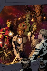La Moda de los Superhéroes Los Guardianes de la Galaxia de Brian Michael Bendis y Steve McNiven 01