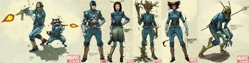 La Moda de los Superhéroes Los Guardianes de la Galaxia de Brian Michael Bendis y Steve McNiven 13