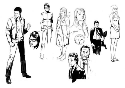 Bocetos de personajes para Harbinger de Álvaro Martinez