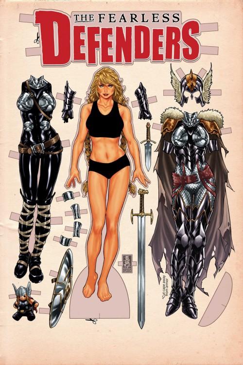Fearless Defenders Mark Brooks Portada Marvel Comics