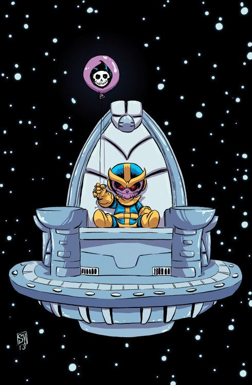 Thanos Rising Skottie Young Marvel Comics Portada