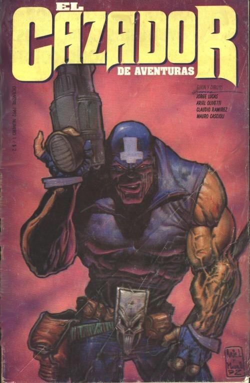Primera portada de El cazador de aventuras, revisión para su recopilación y homenaje en Punisher War Journal #7