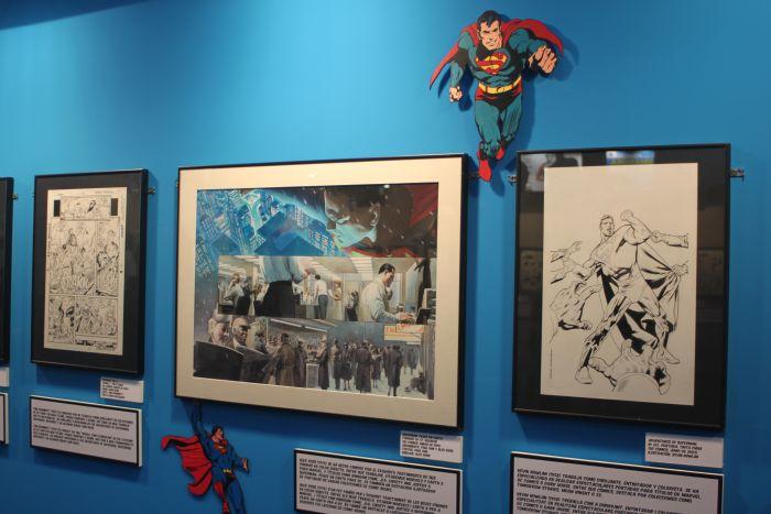 Detalle de la completísima exposición dedicada a Superman en el años de su 75º Aniversario.