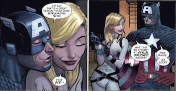 El Capitán América y Sharon Carter