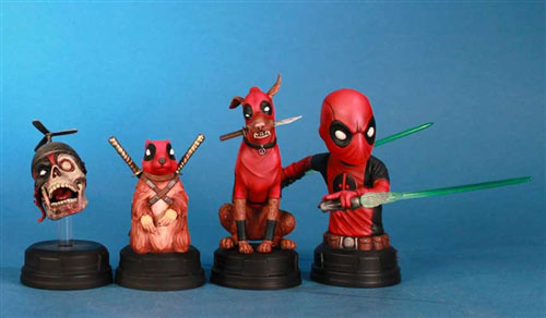 Deadpool-corps-statues