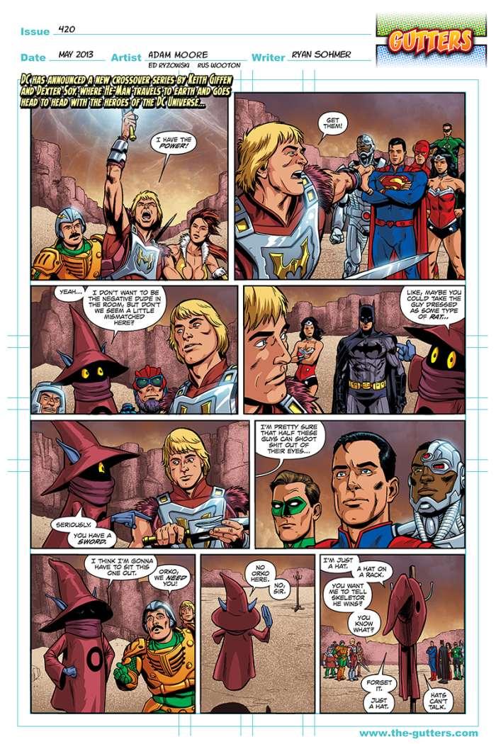 he man vs DC the gutters