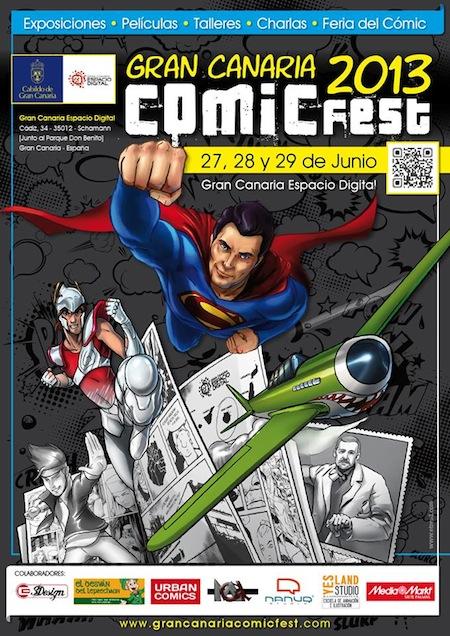 Cartel anunciador de las jornadas culturales de cómic de Gran Canaria