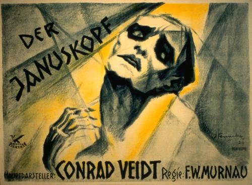 Una de las películas perdidas de <strong>Murnau</strong>, <em>La cabeza de Jano</em>. La mirada del doctor en el magnífico cartel parece querer hablarnos de un alma torturada.