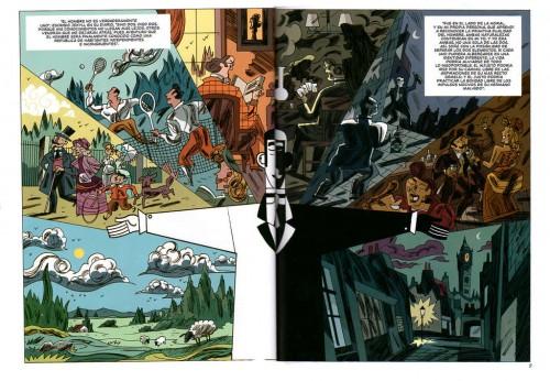 La metáfora de la dualidad, aunque embellece el comic de García y Olivares, no refleja tanto el espíritu del relato de Stevenson como la que escogen Kramsky y Mattotti. Lo veremos más adelante.