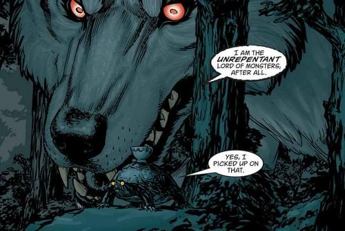 El lobo feroz más feroz que nunca de los lápices e Gene Ha