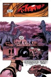 Lobezno y sus estudiantes se enfrentan a los dinosaurios de la Tierra Salvaje por Ramón Pérez