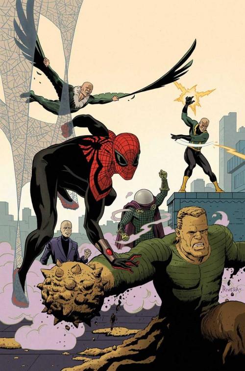 Cubierta de superior Spider-Man Team Up 6 y Superior Spider-Man 22