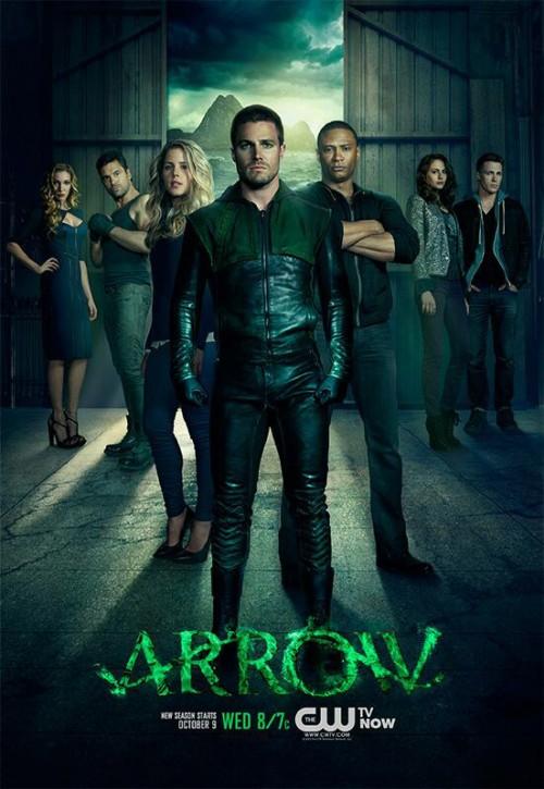 Primer póster de la T2 de Arrow. Se acerca un aluvión de personajes de DC, Flash y Canario Negro entre ellos.