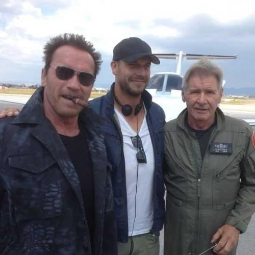 Arnold Schwarzenegger y Harrison Ford. Cuánto cine en una sola imagen.