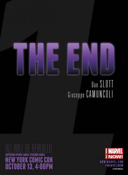 The End Dan Slott Teaser Marvel
