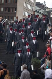 Rodaje del cuarto episodio, Ultimatum en Estocolmo.