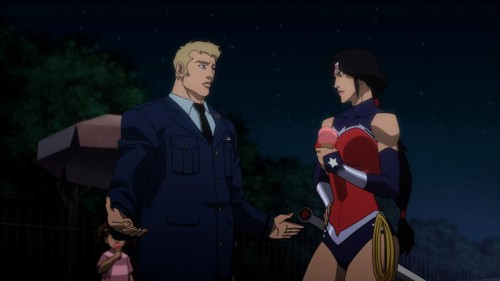 Parece que Diana ha contratado al estilista del Capitán América. ¡Oh, y mirad: pero si es Ben Affleck!