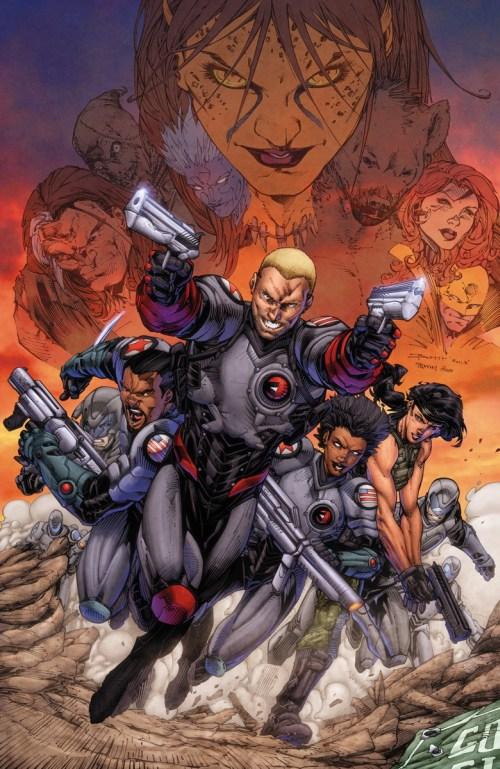Portadas de Forever Evil: A.R.G.U.S. #1 (Brett Booth) y #2 (Mikel Janín)
