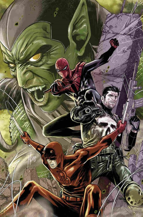 Checchetto Cover Spiderman Daredevil Punisher