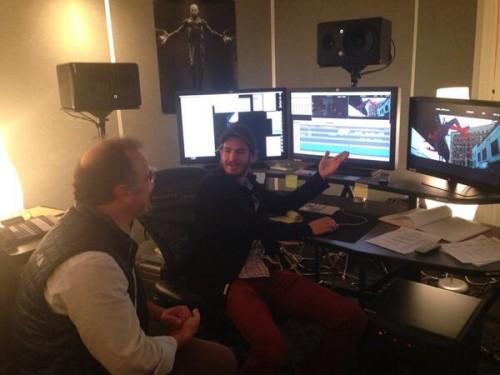 Andrew Garfield en la sala de montaje