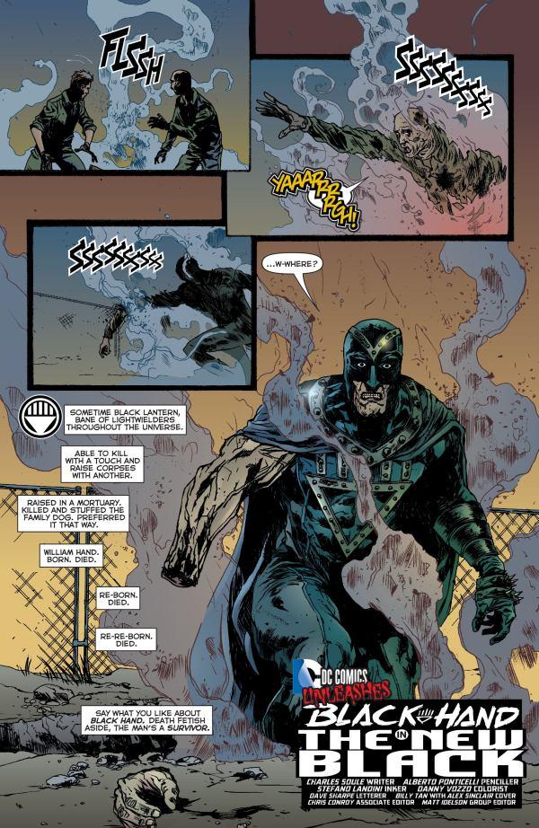 Green Lantern 23.3 black hand ponticelli