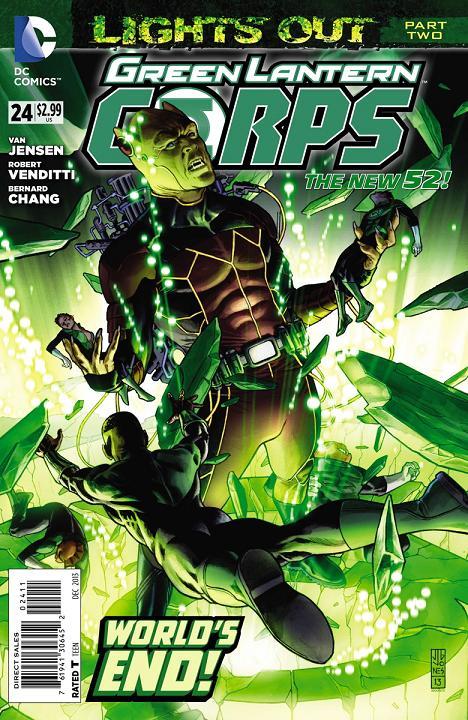 Portada del Green Lantern Corps #24 por J.G. Jones