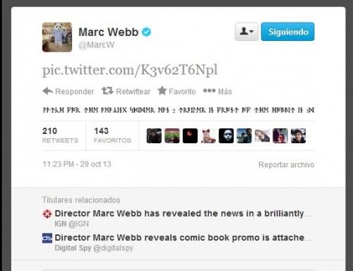 Marc Webb y sus runas