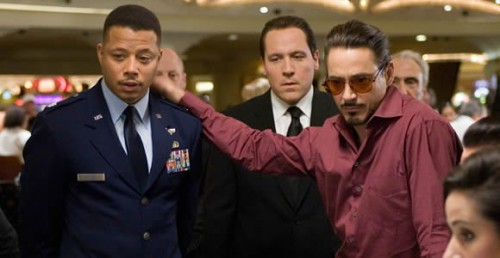 Howard y Downey Jr. en Iron Man